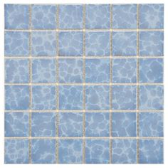 This tile pack is suitable for medium-duty residential floors including kitchens, halls, corridors, balconies, terraces and areas used more often with normal footwear and small amounts of dirt. The light blue set covers 10.4 square feet.