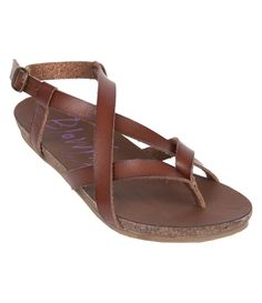 Need a chic sandal with a twist? Grab the Blowfish Shoes spring favorite, Granola. This style features a faux leather strappy detail that's adjustable. Also some added comfort with its lightly padded, faux cork foot-bed. Granola is your go to style for your warm weather vacations and adventures.