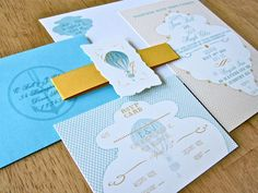 Hot Air Balloon Invitation - balloon on envelope