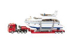 Siku 1849 - Camion trasporto barche con Yacht 1/87  scala h0 modellismo ferroviario plastico del treno
