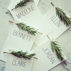 .@Best Day Ever Creative Events | A weekend client meeting had us dreaming up rosemary toting placecards. #rose... | Webstagram