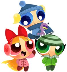 The Powerpuff Girls - Blossom, Bubbles, and Buttercup