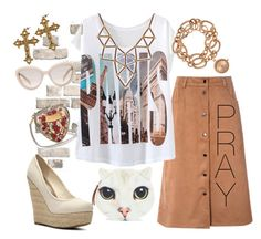 """""""send up a prayer"""" by janeellie ❤ liked on Polyvore featuring Glamorous, Madden Girl, Chicnova Fashion, Louis Arden, Prada, Dolce&Gabbana and Rock 'N Rose"""
