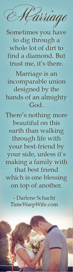 Marriage quote | Time-Warp Wife - There's nothing more beautiful on this earth than walking through life with your best-friend by your side, unless it's making a family with that best friend which is one blessing on top of another.