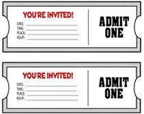 Elegant Image Result For Movie Ticket Invitation Template Free Printable
