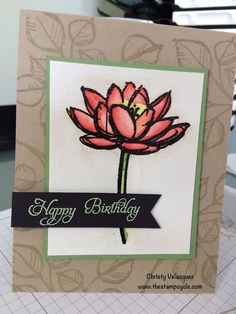 Remarkable You, Watercolor, Stampin Up, The Stamp Cycle