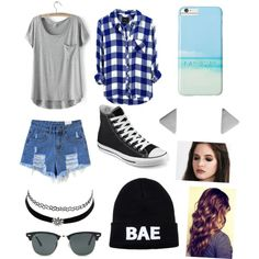 Untitled #232 by oliviamarvel on Polyvore featuring polyvore fashion style Converse Charlotte Russe Ray-Ban Gray Malin