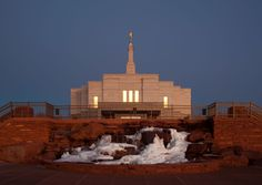 Click to enlarge this image of the Snowflake Arizona Mormon Temple