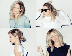 Exclusive: Ashley Tisdale Shows Off 4 Ways To Style A Summer Lob