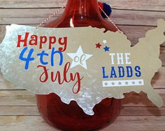 Personalized 4th of July Sign, Fourth of July Sign, Fourth of July Decorations, Custom 4th of July Sign, 4th of July Decorations, Patriotic