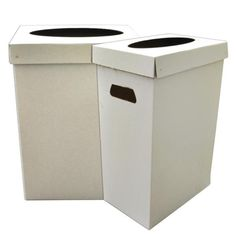 Disposable Recyclable Cardboard Trash Cans Cardboard Recycling Bins, Cardboard Crafts, Recycling Station, Cardboard Furniture, Garbage Can, Trash Bins, Packaging Design, Canning, Wedding Decorations