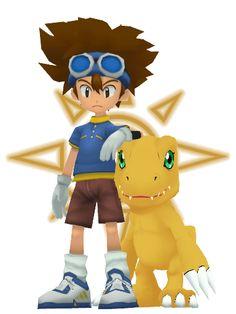 Digimon 01 Tai and Agumon