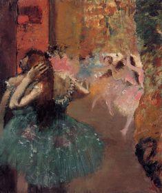 Ballet Scene - Edgar Degas. Artist: Edgar Degas. Completion Date: c.1893