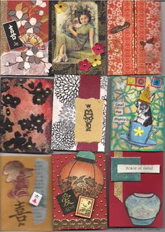 September 2015 Asian ATC Swap Cards from Ink, Paper, Rubber ATC club meeting.