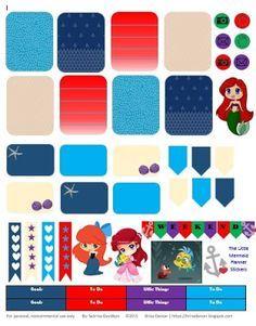 FREE Planner Stickers : The Little Mermaid : Sabrina Davidson: