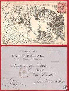 CPA PUB La Broderie Illustrée FANTAISIE Art Deco fleur