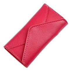Elegant Leather Car Key Holder Wallet 6 Key Hooks 1 Card Slot -- Learn more by visiting the image link.