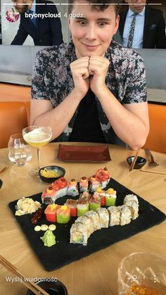 I wish someone would look at me like Dan looks at that sushi