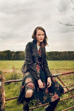 "AW 16/17 ""The Brits"" Catalogue ""Ashley Dress"" ""Balmoral Jacket, tartan green"" http://shop.lenahoschek.com/"