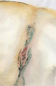 """""""Vênus 10"""" - Aquarela. Projeto """"Delta Z"""". Setembro 2004. Arte Erótica."""
