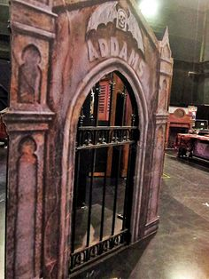 set from the addams family musical backstage with the macabre clan the addams family addams family set