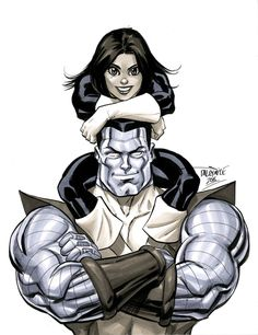 Kitty Pryde & Colossus by Scott Dalrymple Marvel Comics Art, Marvel Comic Universe, Marvel X, Marvel Heroes, Xmen, Comic Books Art, Comic Art, Book Art, Spiderman