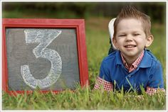 "My lil' guy's ""3rd birthday"" picture"