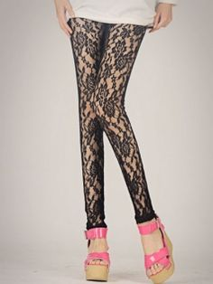 Sexy Hollow Out Lace Splicing Stockings
