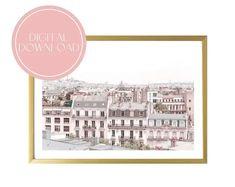 Paris Digital Download Printable Art Print French Wall Decor Original Artwork Printable Art, Printables, Original Artwork, French Walls, Wall Decor, Aesthetic Art, Belgium, Netherlands