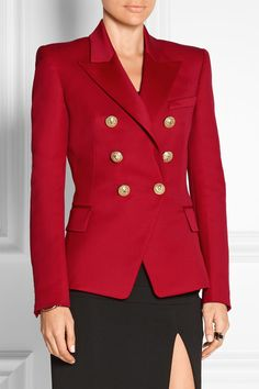 Balmain- Double-breasted wool-twill blazer  ABSOLUTELY GORGEOUS!!