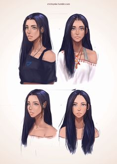 Throwback Thursday to the first drawings of my character, Noemie!