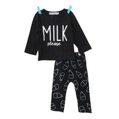 'Milk Please' Set #babyclothingset #toddlerclothingset #baby #toddler #fashion #set #clothing #children #boutique #boys #girls #cute #outfits