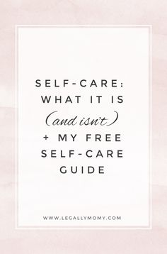 Download my free self-care planning guide!