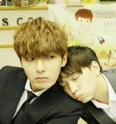 Ryeowook and Sungmin on SUKIRA. haha! MinWook Bromance xD