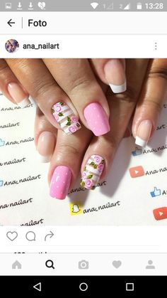 nail designs for summer nail designs for short nails step by step best nail stickers nail appliques best nail polish strips 2019 Nail Art Designs, Short Nail Designs, Spring Nails, Summer Nails, Cute Nails, Pretty Nails, Manicure Y Pedicure, Essie, Nail Art Stickers