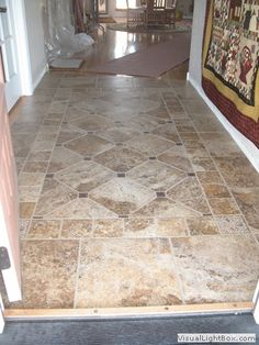 Tile patterns for entryways Floor Patterns, Tile Patterns, Entryway Flooring, Tile Entryway, Hall Tiles, Entry Tile, Buy Tile, Entry Way Design, Paint Colors For Living Room