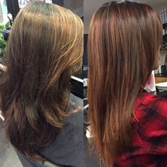 Before / after ! Hair color transformation