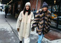 Patty Lu in a 3.1 Phillip Lim coat and Megan Bowman Gray