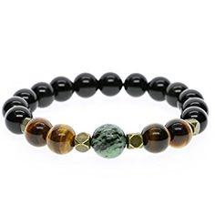 AmorWing Tiger Eye Prayer Bead Stretch Bracelet for Men & Women $22.99