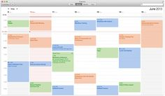 OS X Mavericks Calendar Week View