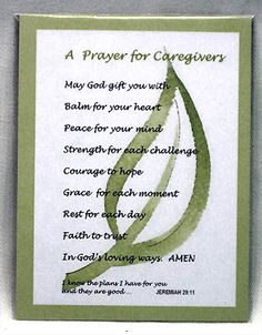 A Prayer for Caregivers
