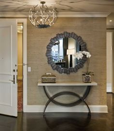 awesome mirror ,,, awesome table ... awesome light