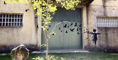 Check out the fantastic work of Spanish street artist Pejac, whose pieces have been spotted in cities across Europe.