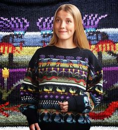 . . . Kaislakerttu Lehtovaara - Maalauksia . . .: Neuleet Fair Isle Knitting Patterns, Fair Isle Pattern, Knitting Designs, Knitting Projects, Pullover, Christmas Sweaters, Knitwear, Elsa, Graphic Sweatshirt