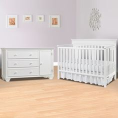 Graco Cribs 2 Piece Nursery Set Lauren Convertible Crib And Portland Combo Dresser Changer
