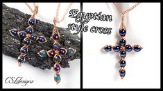 In this tutorial I show you how to make my Egyptian style wirework cross, that works great both as a necklace and earrings. Diy Jewelry Necklace, Cross Jewelry, Necklaces, Wire Pendant, Cross Pendant, Wire Wrapped Jewelry, Wire Jewelry, Jewlery, Macrame Earrings Tutorial