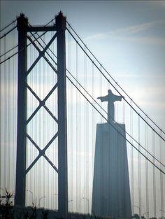 """Cristo Rei"" | Christ the King statue |  Almada #Portugal #travel #Almada"