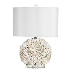 "Mariana Home Seashell Peony 21.5"" H Table Lamp with Drum Shade"