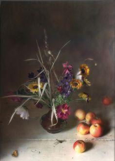 Still Life Photography цветы и яблоки © Тимоша