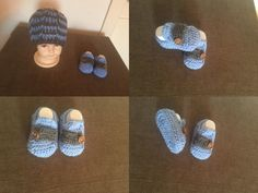 Crochet baby slip on and beanie :)